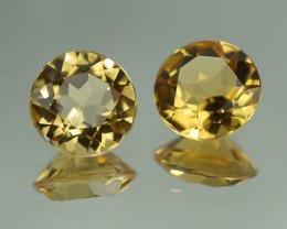 8X8MM AAA QUALITY YELLOW BERYL PAIR