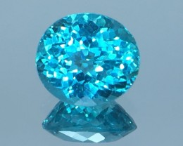 1.46 Cts Neon Blue Apatite ~ Insanity ~ Brazilian ~ Untreated Sa1