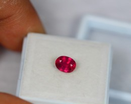 1.25Ct Natural Ruby Oval Cut Lot V996