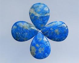 243.5Ct  4Pcs  Natural Lapis Lazuli  Cabochon(18032101)
