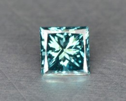0.07 Cts Natural Blue Green Diamond Princess Africa