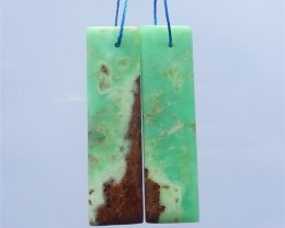 41ct Natural Chrysoprase Earring Pair Wholesale Gemstone (18032106)