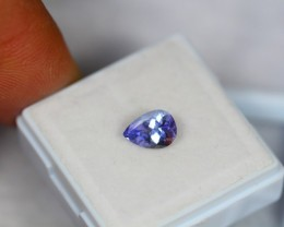 1.08ct Natural Violet Blue Tanzanite Pear Cut Lot GW1025