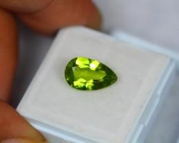 3.13ct Natural Green Peridot Pear Cut Lot GW1030