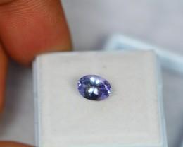 1.32ct Natural Violet Blue Tanzanite Oval Cut Lot GW1035