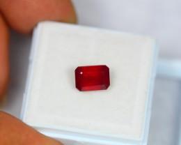 2.52ct Natural Ruby Octagon Cut Lot GW1037