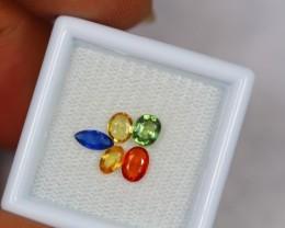 1.65ct Natural Fancy Color Sapphire Mix Cut Lot GW1039