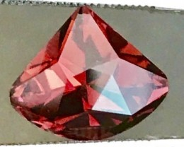 Fascinating Designer Cut (Kite), Orangey RED Tourmaline, Nigeria Ref E03