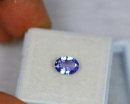 1.00Ct Natural Violet Blue Tanzanite Oval Cut Lot V1049