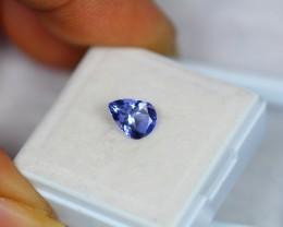 0.88Ct Natural Violet Blue Tanzanite Pear Cut Lot V1052
