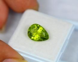 4.42Ct Natural Green Peridot Pear Cut Lot V1057