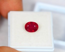 2.90Ct Natural Ruby Oval Cut Lot V1072