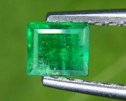 0.65 Crt Natural Panjshir Emerald Faceted Gemstone (965)