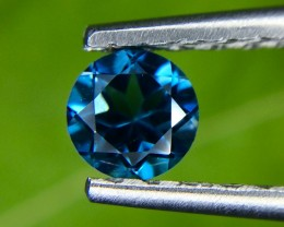 0.65 Crt Natural London Blue Topaz Faceted Gemstone (965)