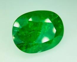 12.95 Crt Tsavorite GIL Certified Natural  (Green Garnet)  Gemstone