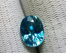 4.43 CTS NATURAL BEAUTIFUL OVAL MIXED BLUE ZIRCON FROM COMBODIA