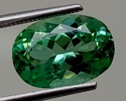 4.45Crt Green Spodumene Best Grade Gemstones JI 12