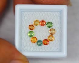 2.65Ct Natural Fancy Color Sapphire Round Cut Lot LZ352