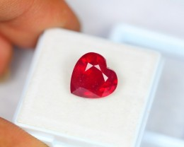 6.43Ct Natural Ruby Heart Cut Lot LZ353