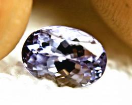 CERTIFIED - 3.61 Carat Best IF/VVS1 Lilac Tanzanite - Gorgeous