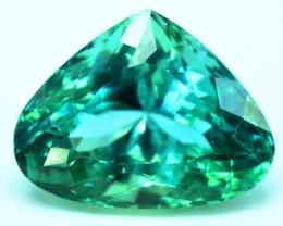 16.15 cts Curved Trillion Cut Lush Green Spodumene Gemstone From Afghanista