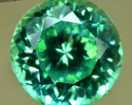 12.50 cts Round Cut Lush Green Spodumene Gemstone From Afghanistan (P)