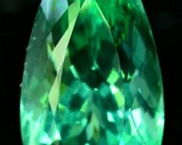 25.25 cts Beautifull Pear Cut Lush Green Spodumene Gemstone From Afghanista