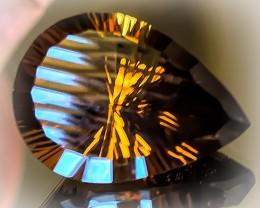 25.84ct UNIQUE CUT Smoky Quartz - what a stunner! VVS TOP GRADE LUSTER