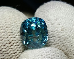 GIL CERTIFIED 5.49 CTS NATURAL BEAUTIFUL OVAL MIXED BLUE ZIRCON COMBODIA