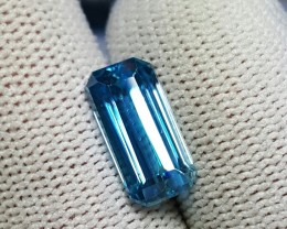 GIL CERTIFIED 5.22 CTS NATURAL BEAUTIFUL OCTAGON BLUE ZIRCON CAMBODIA