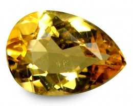 1.02 ct Natural Intense Beautiful Yellow Beryl Pear Shape From Brazil!!!
