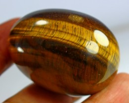 451 CT Natural Tiger Eye Carved Egg Stone Special Shape