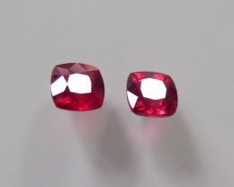 HIGH QUALITY  PAIR OF NATURAL RUBIES MOZAMBIQUE 3.212cts