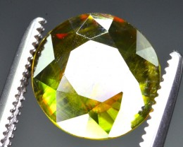 1.90 CT  NATURAL FIRE AND SPARKLING DIAMOND CUT GREEN SPHENE
