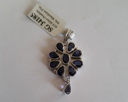 Iolite 925 Sterling silver pendant #34185