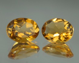 3.23 CT 9x7 MM AAA QUALITY YELLOW BERYL PAIR