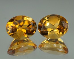 3.62 CT 9x7 MM AAA QUALITY YELLOW BERYL PAIR