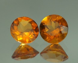5X5 MM AAA QUALITY CITRINE PAIR