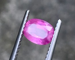 1.24CTS  Certified UNHEAT Pink Sapphire