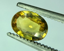 0.70 Crt Natural Yellow Sapphire No Treatement Faceted Gemstone (R 156)