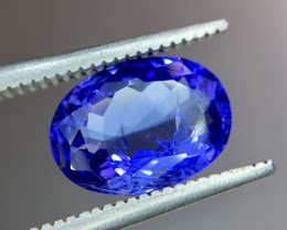 2.30 Crt Natural Tanzanite Top Color Faceted Gemstone (R 156)