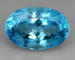 33.00 CTS DAZZLING NATURAL RARE QUALITY LUSTER OVAL CUT BLUE TOPAZ