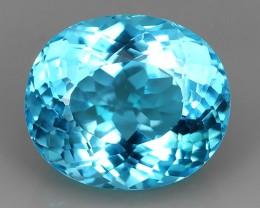 43.90 CTS SUPERIOR! OVAL CUT SWISS BLUE-TOPAZ GENUINE NR!!