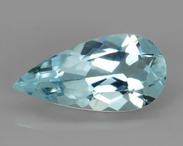2.15 CTS-EXQUISITE NATURAL UNHEATED PEAR AQUAMARINE