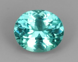1.40 CTS_FINE GEMSTONE COLLECTION_100 % NATURAL NEON PARAIBA BLUE APATITE_
