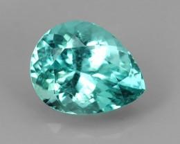 1.35  cts Charming Natural Apatite Magical Fascinating blue pear