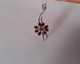Garnet 925 Sterling silver ring #34055