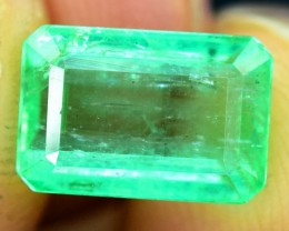 3.10 cts Super Top Quality Emerald Cut  Natural 3.10 cts Colombian  Emerald