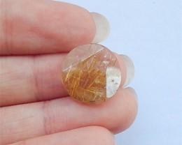 8.5ct Natural Gold Rutilated Quartz Cabochon(18032602)
