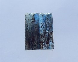 25ct Natural Blue Kyanite Cabochon  Pair(18032603)